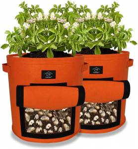 Laxllent Vegetable Growing Bag With Window 9 Gallon