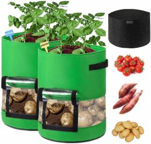 Sunrich 10 Gallon Grow Bags With 360° View